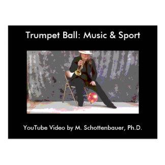 Trumpet Ball: Music & Sport Postcard 8