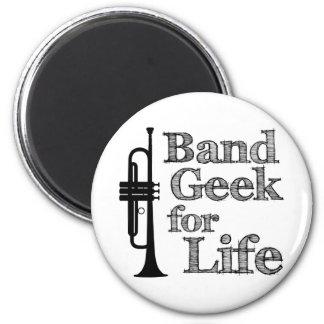 Trumpet Band Geek 2 Inch Round Magnet