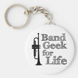 Trumpet Band Geek Keychains