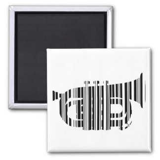 TRUMPET BAR CODE Music Barcode Pattern Design Magnet
