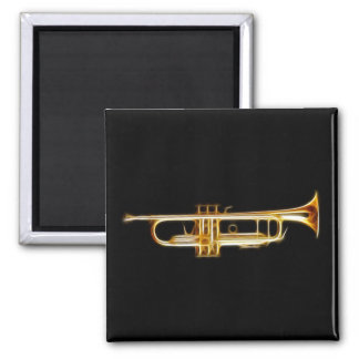 Trumpet Brass Horn Wind Musical Instrument 2 Inch Square Magnet