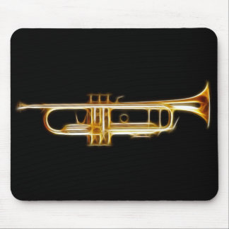 Trumpet Brass Horn Wind Musical Instrument Mouse Pad