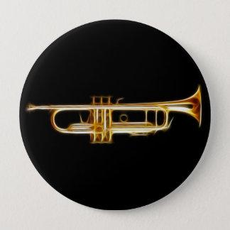 Trumpet Brass Horn Wind Musical Instrument Pinback Button