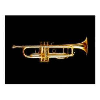 Trumpet Brass Horn Wind Musical Instrument Postcard