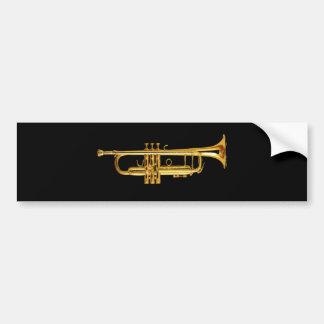 Trumpet Car Bumper Sticker