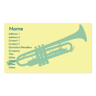 Trumpet - Business Business Card Templates