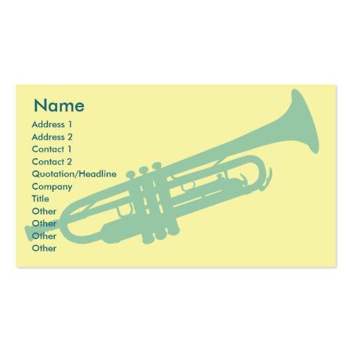 Trumpet - Business Business Card Templates