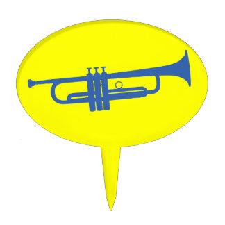 Trumpet Oval Cake Pick