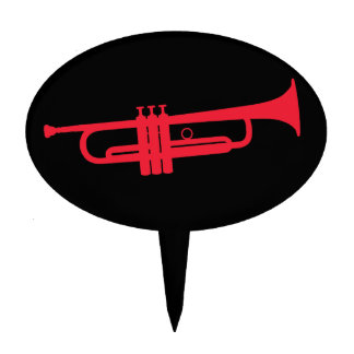 Trumpet Oval Cake Topper