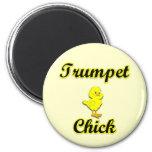 Trumpet Chick Fridge Magnet