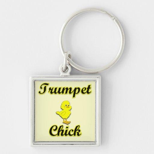 Trumpet Chick Key Chain