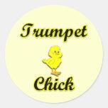 Trumpet Chick Sticker