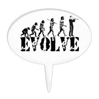 Trumpet Cornet Bugle Band Musical Music Evolution Cake Pick