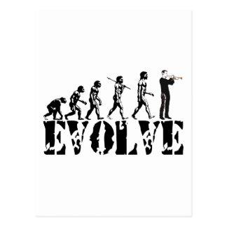 Trumpet Cornet Bugle Band Musical Music Evolution Postcard