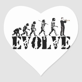 Trumpet Cornet Bugle Band Musical Music Evolution Stickers