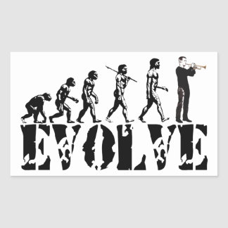 Trumpet Cornet Bugle Band Musical Music Evolution Rectangle Stickers