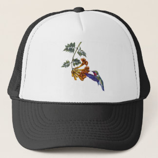 Trumpet Creeper Ruby Throated Hummingbird Trucker Hat