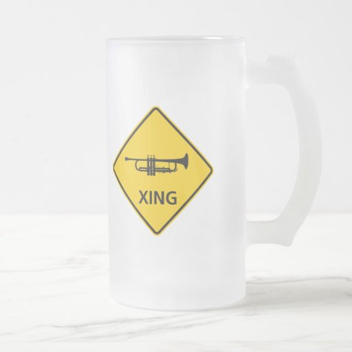 Trumpet Crossing Highway Sign Coffee Mug