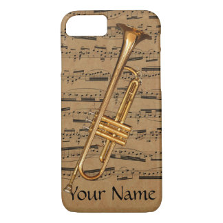 Trumpet Custom Musical Notes iPhone 7 Case