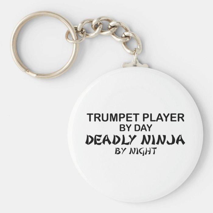 Trumpet Deadly Ninja by Night Keychain
