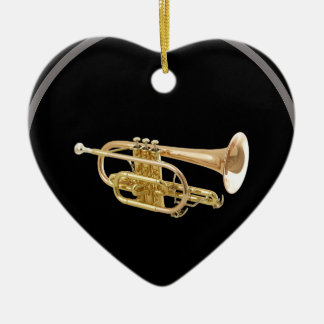 """Trumpet"" design gifts and products Ceramic Ornament"