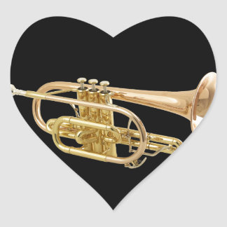 """""""Trumpet"""" design gifts and products Heart Sticker"""