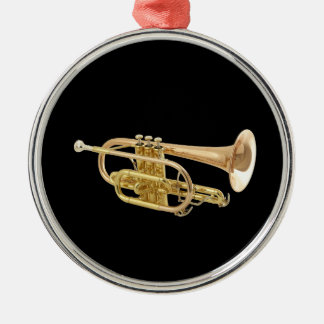 """Trumpet"" design gifts and products Metal Ornament"