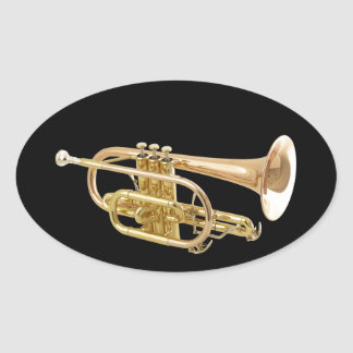 """""""Trumpet"""" design gifts and products Oval Sticker"""