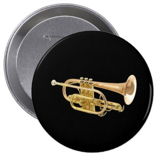 """""""Trumpet"""" design gifts and products Pinback Button"""