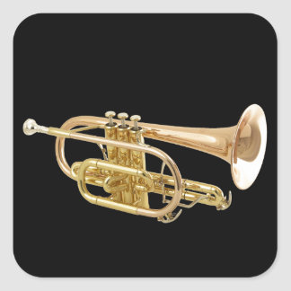 """""""Trumpet"""" design gifts and products Square Sticker"""