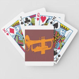 Trumpet design bicycle card deck