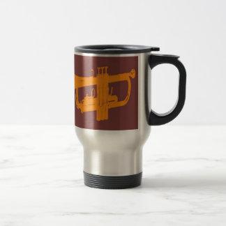 Trumpet design travel mug