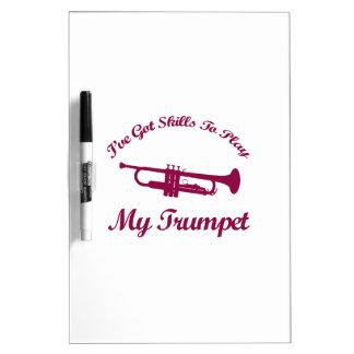Trumpet designs Dry-Erase board
