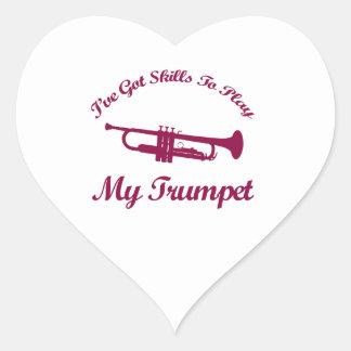 Trumpet designs heart stickers