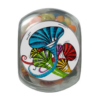 Trumpet doodle jelly belly candy jars