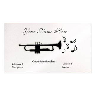 Trumpet Double-Sided Standard Business Cards (Pack Of 100)