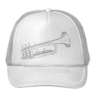 Trumpet Drawing Golf Cap or Hat