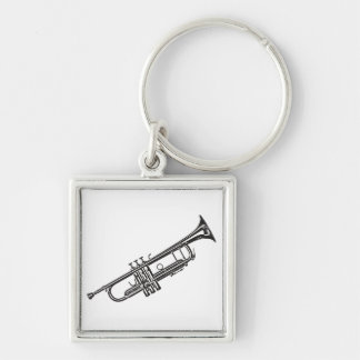 "Trumpet ""Drawing"" Key Chains"