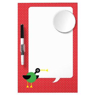 Trumpet Duck Dry Erase Board With Mirror
