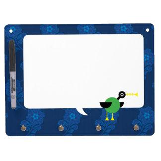 Trumpet Duck Dry Erase Board With Keychain Holder