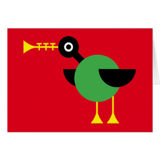 Trumpet Duck Greeting Card