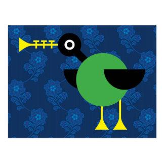 Trumpet Duck Postcard