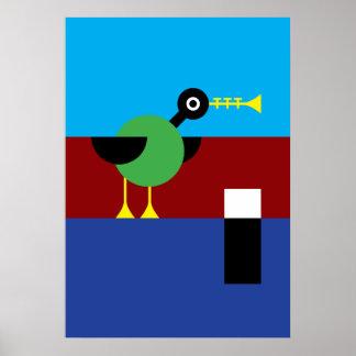 Trumpet Duck Poster
