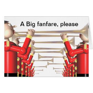 Trumpet fanfare cards