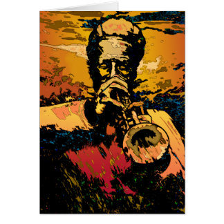 Trumpet Fire Greeting Cards