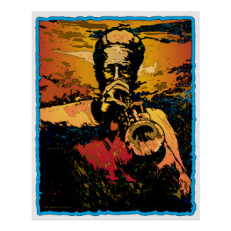 Trumpet Fire Poster