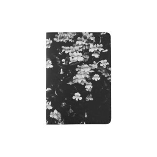 Trumpet Flowers (Black & White) Passport Holder