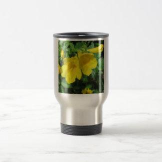 Trumpet Garden Flower Yellow Travel Mug