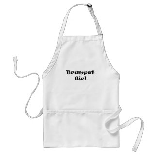 Trumpet Girl Adult Apron