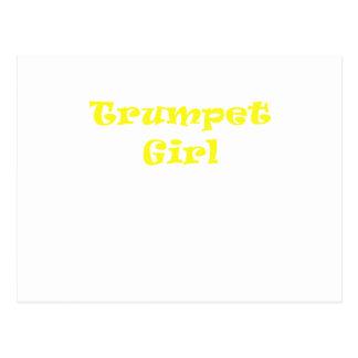 Trumpet Girl Postcard